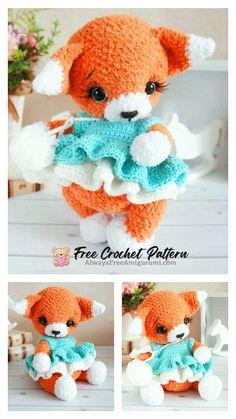 Free Crochet, Crochet Hats, Step By Step Crochet, Cute Fox, Craft Corner, Learn To Crochet, Free Pattern, Crochet Patterns, Teddy Bear