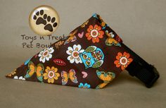 Reversible Retro Owls Butterflies & Flowers  Oh by TnTPetBoutique