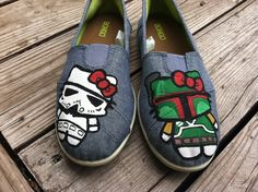 Say Hi To Hello Kitty Star Wars Shoes