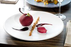 Collection Eté 2016  Forêt noire à notre façon ! Sorbet cerise noire et Kirsch.  Black forest house style! Black cherry and kirsch sorbet.