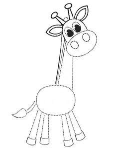 Small Giraffe Pattern to Print