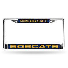Montana State Bobcats NCAA Laser Chrome License Plate Frame