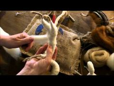 5. Kits - pea ja sarved / Needle Felting Tutorial - Sarafina Fiber Art Goat Series 5: Horns and Head - YouTube