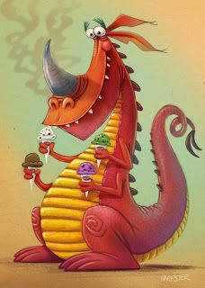 The illustrated world of Steve Harpster: Graeter's Dragon Monster Illustration, Fantasy Illustration, Dragon Illustration, Cute Art, Whimsical Art, Art, Dragon Art, Dragon Pictures, Monster Art