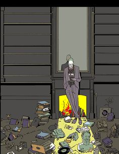 Illustration by Istvan Banyai. The Atlantic Fiction magazine cover (2009).