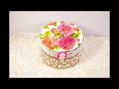 Декупаж для начинающих мастер класс #35 шкатулка шебби шик из пластиковой баночки для крема - YouTube