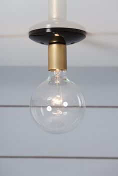 Brass Farmhouse Ceiling Light $40  http://www.industriallightelectric.com/collections/industrial-ceiling-light/products/brass-steel-ceiling-mount-light-1