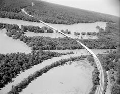 Huguenot Bridge after Agnes (1972) by The Library of Virginia, via Flickr