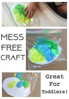 Mess Free Painting: A Simple Easter Craft for Toddlers and Kids --- cut out cardstock crosses for sunday school option