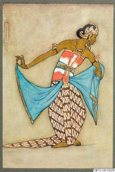 Indonesian Art, Javanese, Scarf Design, Woodblock Print, Tarot, Asia, Arts And Crafts, Paintings, Watercolor