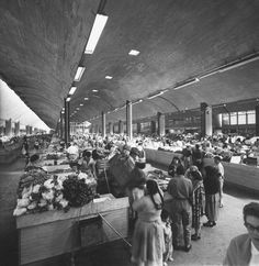 Modern food market named `Mercado de La Merced', 1958