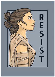 Resist She Series Postcard Item Starwars, Disney Movies, Disney Characters, Girls Rules, Karen, Arte Pop, Love Stars, Marvel Art, Star Wars Art
