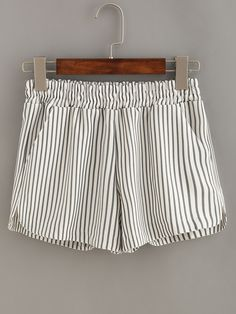 Shop Vertical Striped Elastic Waist Shorts online. SheIn offers Vertical Striped Elastic Waist Shorts & more to fit your fashionable needs.