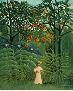 Henri Rousseau Woman Walking in an Exotic Forest art painting for sale; Shop your favorite Henri Rousseau Woman Walking in an Exotic Forest painting on canvas or frame at discount price. National Gallery Of Art, Art Gallery, Cleveland Museum Of Art, Art Institute Of Chicago, Henri Rousseau Paintings, Free Illustration, Post Impressionism, Oil Painting Reproductions, Naive Art