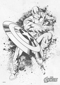 captain america steven rogers inksketch ink sketch drawing avengers comic marvel Marvel