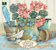 Gentler Thymes 2014 Wall Calendar: This 2014 Wall Calendar by Legacy features the still life arrangements of artist Jo Moulton. Decoupage Vintage, Decoupage Paper, Vintage Pictures, Vintage Images, Fabric Painting, Painting On Wood, Art Calendar, Pintura Country, Illustration Art