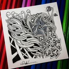 Zentangle 060716.  #zentangle #zendoodle #doodle #doodleart #drawing #draw…