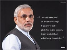 Narendra Modi 15Th Prime Minister Of India With Quotes HD Wallpaper