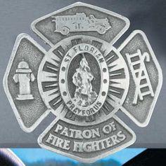 St. Florian Visor Clip - Firefighter gift idea