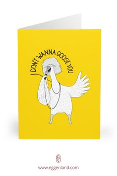 Goose singing Tina Turner. Semi-glossy finish of these greeting cards adds a beautiful shine while the matching white envelopes create a complete package. This greeting card is from Animal Karaoke collection.