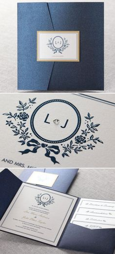 Pocket Wedding Invites to die for from @bwedding The elegant Old Fashioned Romance I takes the cake #elegant #wedding #romantic #weddinginvitations