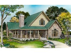rustic+house+plans+with+wrap+around+porches   Parsons Bend Rustic Cottage Home Plan 095D-0050   House Plans and More