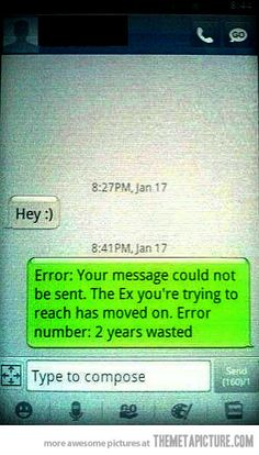 Should've done this today, lol... cuz of coooourse the ex has to text me today, considering it's valentine's day :P