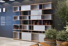 Contemporary bookcase / by Charlotte Perriand 526 NUAGE Cassina