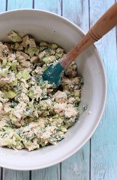 Cucumber Dill Greek Yogurt Rotisserie Chicken Salad is protein-packed and tastes like summer in a bowl thanks to crisp cucumber and flavorful herbs.