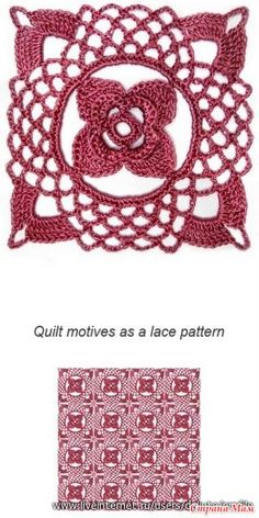 Crochet square to make a nice afghan ♥LCS♥ with diagram