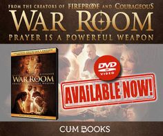 NOW AVAILABLE! War Room the MOVIE Get your copy for R129.95 TODAY @ your nearest CUM Books Store or online Christian Movies, The Creator, Prayers, War, Store, Books, Libros, Larger, Book