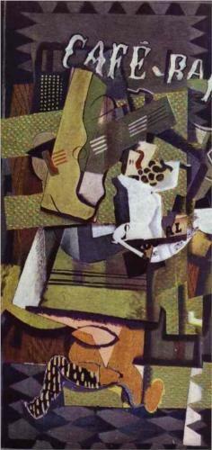 Georges Braque (1882 - 1963) | Cubism | Cafe Bar - 1919
