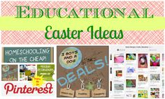 Educational Easter Ideas and Pinterest Party