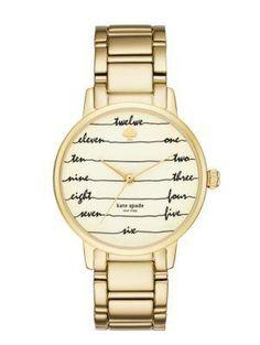 gold chalkboard gramercy watch - kate spade new york