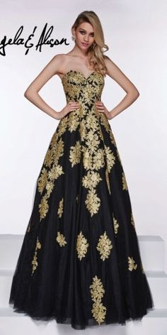 Long Lace Ball Gown