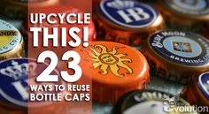 #Upcycle This! 23 Ways to Reuse Bottle Caps #DIY #Crafts