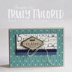 Truly Tailored masculine card
