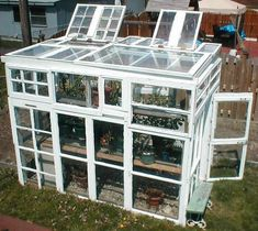 How to make a greenhouse from old windows