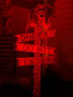 here is the finished prop for the haunted house entrance could not wait till next week creepy halloween propsoutside