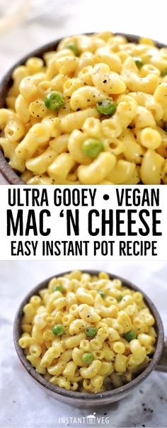 """A comforting classic, this vegan version of homemade mac and cheese tastes just like mama used to make, minus the milk and cheese! Vegan Mac And Cheese ~ Cauliflower """"Cheese"""" Sauce In The Instant Pot Mac And Cheese Sauce, Mac And Cheese Healthy, Vegan Mac N Cheese, Cauliflower Mac And Cheese, Vegan Cheese Sauce, Mac And Cheese Homemade, Cashew Cheese, Vegan Cauliflower, Barbecue"""