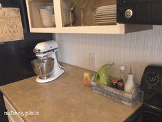 Kitchen dining beadboard backsplash kitchen temporary diy projects