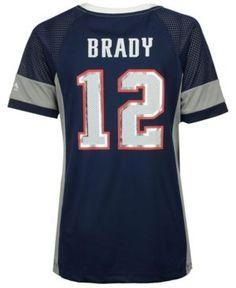 Majestic Women's Tom Brady New England Patriots 2017 Draft Him T-Shirt - Blue XXL