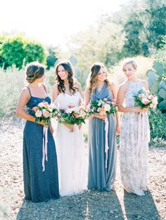Mix and match perfection: http://www.stylemepretty.com/2016/05/23/mix-match-style-inspiration-for-bridesmaids/ | Photography: Melissa Jill - http://www.melissajill.com/