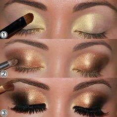 Gold & Black Eye Makeup http://www.facebook.com/photo.php?fbid=10151081819237209&set=a.10150284879992209.369670.79283397208&type=1&theater