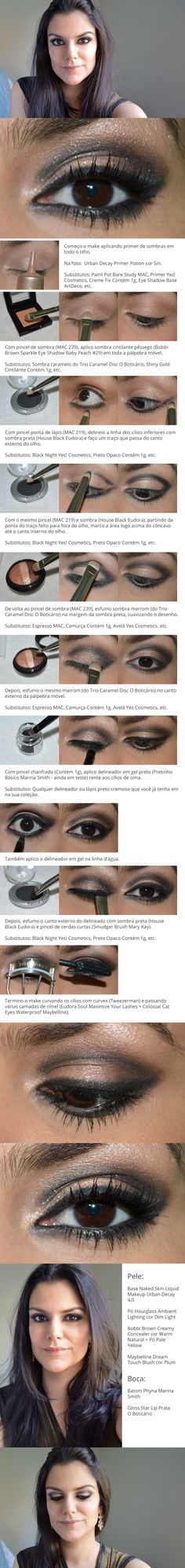 Tutorial: Noturno http://www.2beauty.com.br/blog/2014/01/31/tutorial-noturno/ #maquiagem #makeup