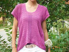 PDF PATTERN Crochet Shirttail Top Pullover Sweater by TheYarnYogi, $5.00