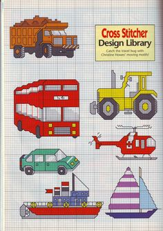 Trucks, Planes and Automobiles • 1/2 Pattern Library Charts
