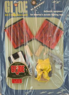 """No flight deck can operate without a Landing Signal Officer Advertised in early catalogs as the """"Deck Commander,"""" the name was changed when the set was released. Gi Joe, 1960s Toys, Nerd Cave, Happy 50th Birthday, Vintage Toys, Action Figures, Childhood, Barbie Outfits, Grandfather Clock"""