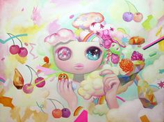 """""""Pop"""", Oil on canvas, 2014 by So Youn Lee 