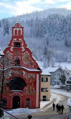 Winter in Füssen, Bavaria, Germany